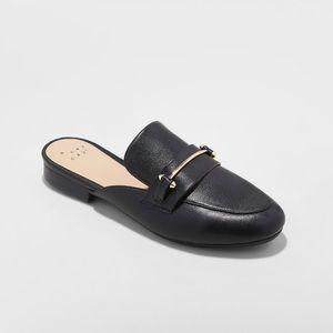Black Slip On Mules